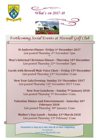 Forthcoming Events 2017/18