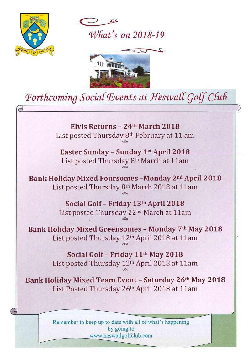 Social Events 2018-19