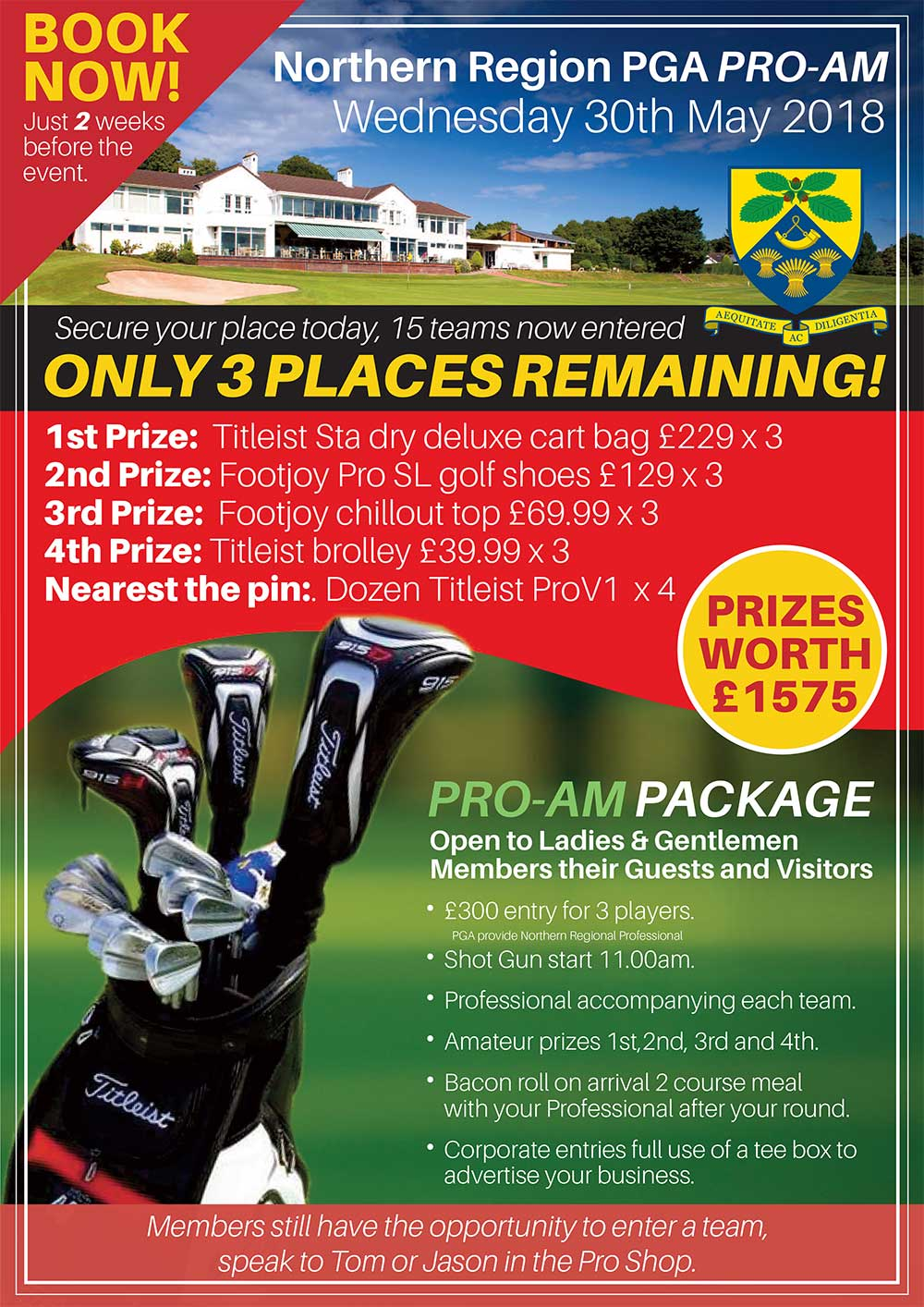 PGA Pro-AM Only 2 Weeks To Go….