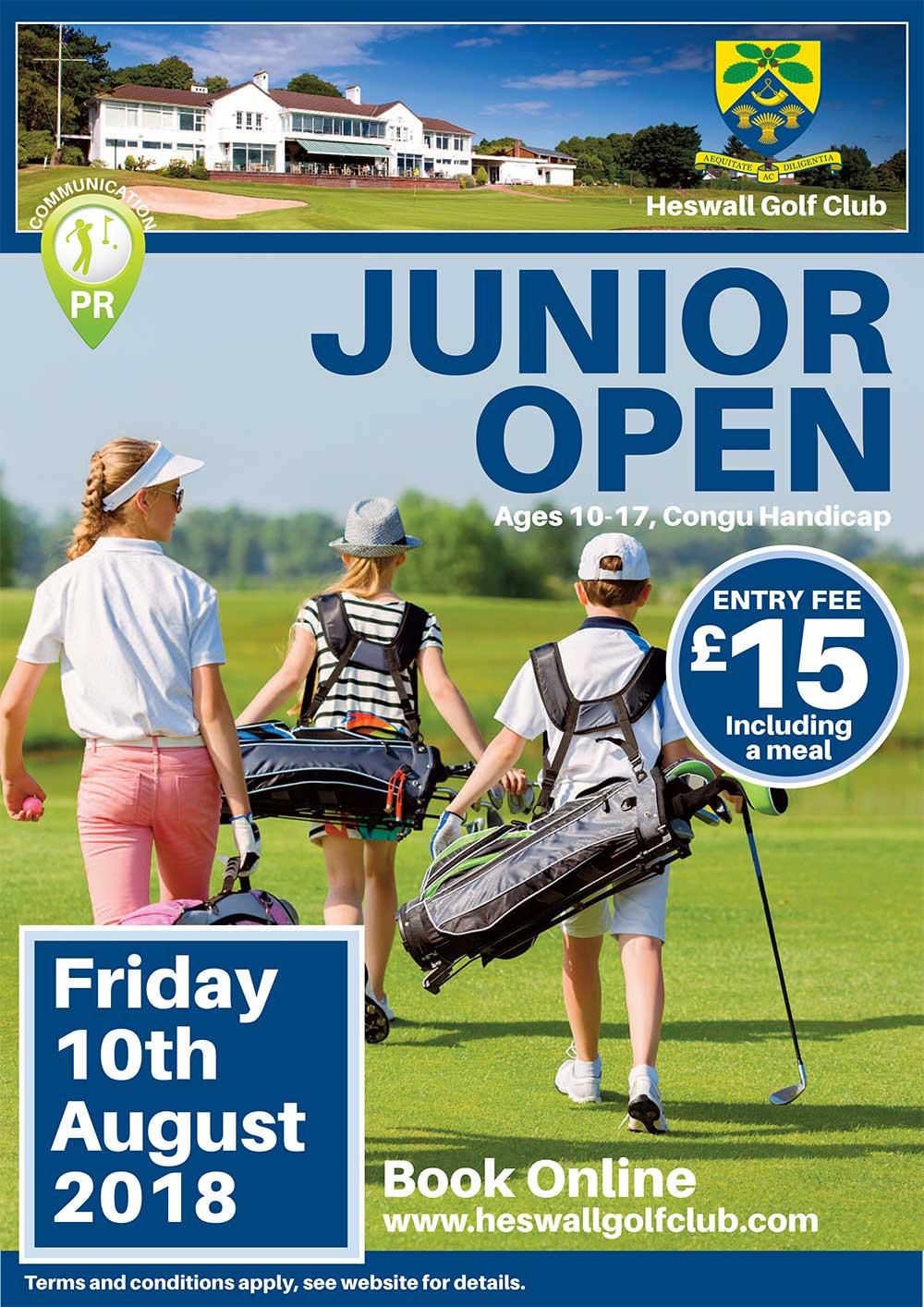 Junior Open 10th August 2018