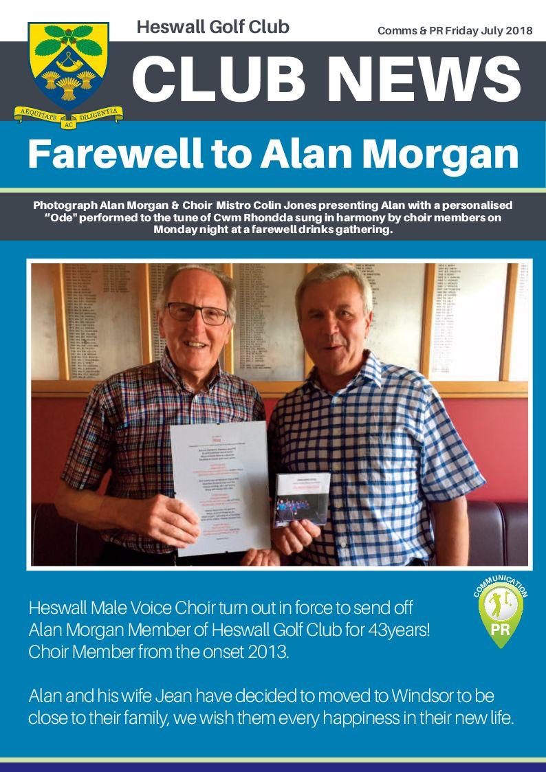 Farewell to Alan Morgan