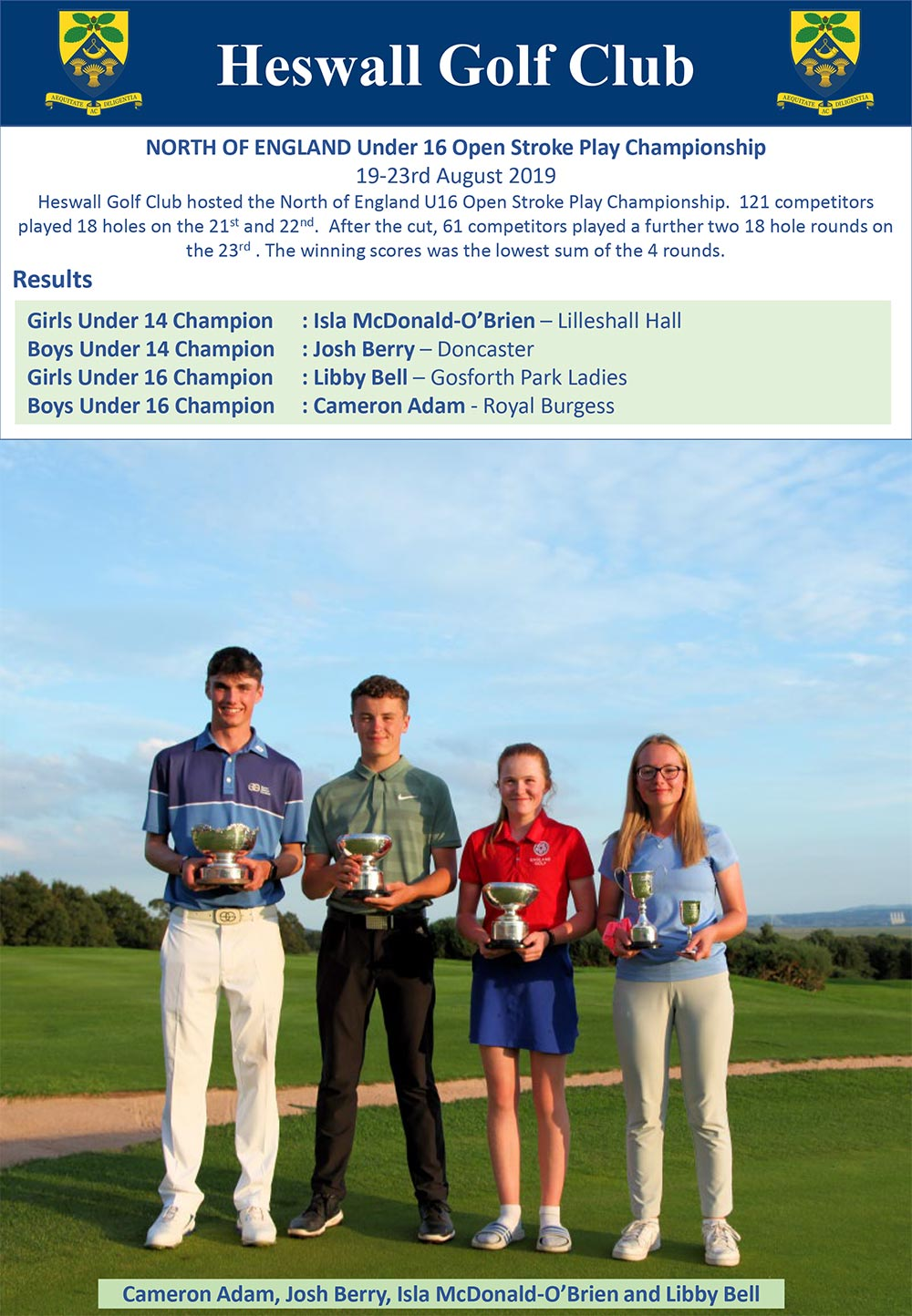 NORTH OF ENGLAND Under 16 Open Stroke Play Championship