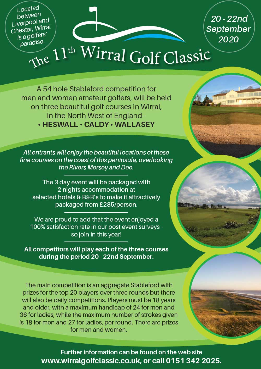 The 11th Wirral Golf Classic, 20-22nd September 2020