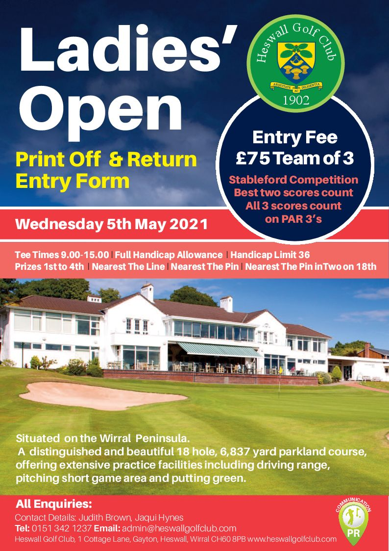 Ladies' Open Wednesday 5th May 2021