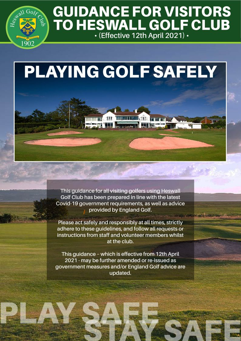 VISITORS PLAY SAFE-STAY SAFE GUIDANCE – EFFECTIVE 12TH APRIL 2021