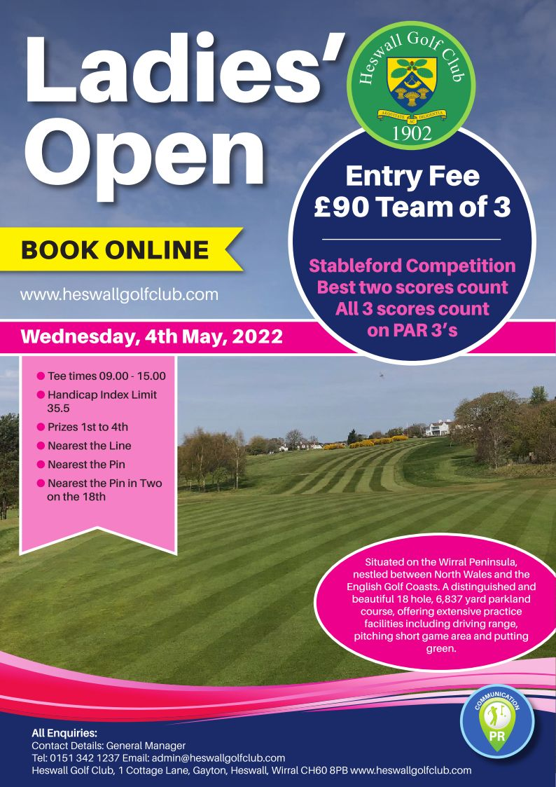 Ladies' Open Wednesday 4th May 2022
